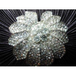 Fashion Only Abendtasche, schwarz mit Strassornament Orchidee