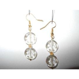 UK Collection Ohrringe, goldfarben und transparent