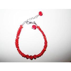 UK Collection Armband van kristalkralen, rood
