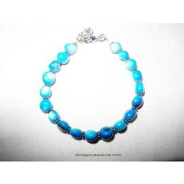UK Collection Armband mit Perlen und Ohrringen, blau