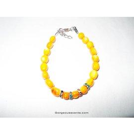 UK Collection Parelmoer armband in oranje tinten