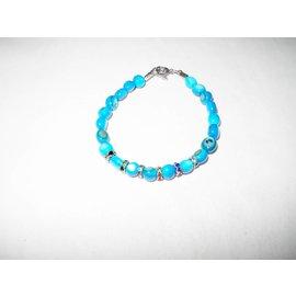 UK Collection Parelmoer armband, blauw