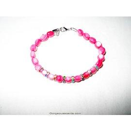 UK Collection Armband mit Perlen und Ohrringen, rot