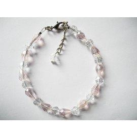 UK Collection Armbandje, roze en transparant