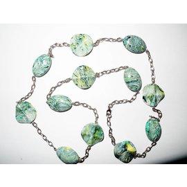 UK Collection Lange Halskette und Ohrringe in blau-gelb-weiss