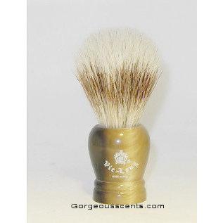 Accessoires Rasierpinsel mit braun marmoriertem Griff, 100 % Schweineborste