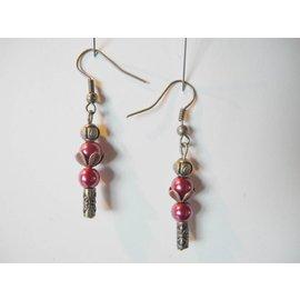 UK Collection Ohrringe, bronzefarben und rot