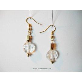 UK Collection Oorbellen, goudkleur en transparent