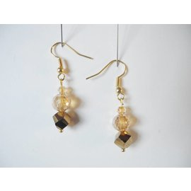 UK Collection Ohrringe, hell und dunkel goldfarben