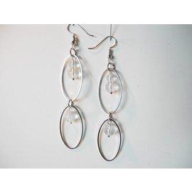 UK Collection Ohrringe, silberfarben und transparent