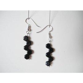 UK Collection Ohrringe, schwarz