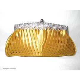 Fashion Only Abendtasche, goldgelb