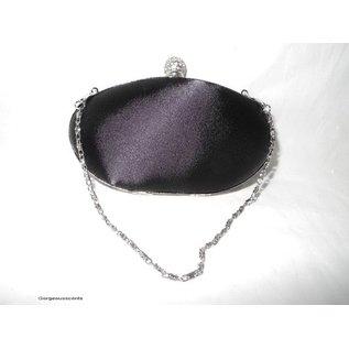 Fashion Only Abendtasche, schwarz mit Strassornament