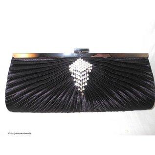 Fashion Only Abendtasche, schwarz mit Strasssteinen
