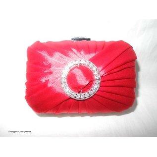 Fashion Only Abendtasche, rot mit Strassornament
