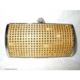Fashion Only Abendtasche, oval, goldfarben