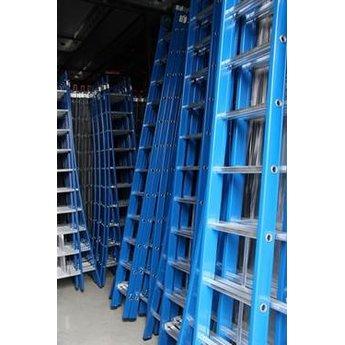 ASC 3 delige ladder 3x16 treden (blauwe coating)