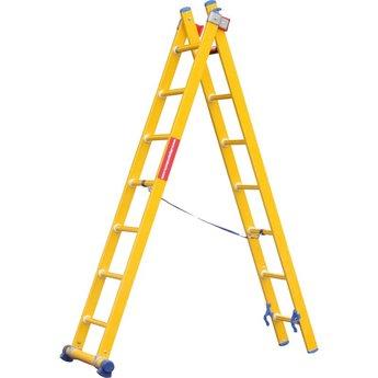 Kunststof ladder GVK 2x8 treden