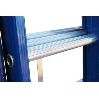 ASC 3 delige ladder 3x8 treden (blauwe coating)