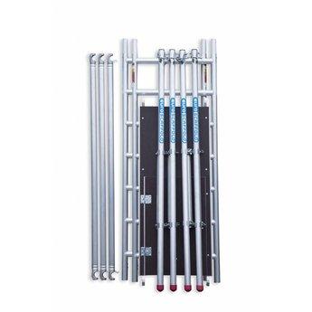 Steiger Compact werkhoogte 7,8 meter (module 1+2+3+4) met verstelbare wielen