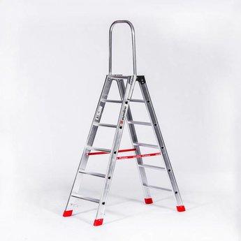 Lichtgewicht dubbele trap 2x6 treden