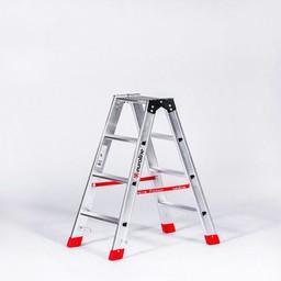 Lichtgewicht dubbele trap 2x4 treden