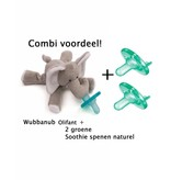 Wubbanub Wubbanub olifant + 2 Soothie Spenen
