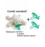 Wubbanub Wubbanub Lammetje + 2 Soothie Spenen
