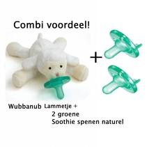 Combivoordeel Wubbanub Lammetje + 2 Soothie's