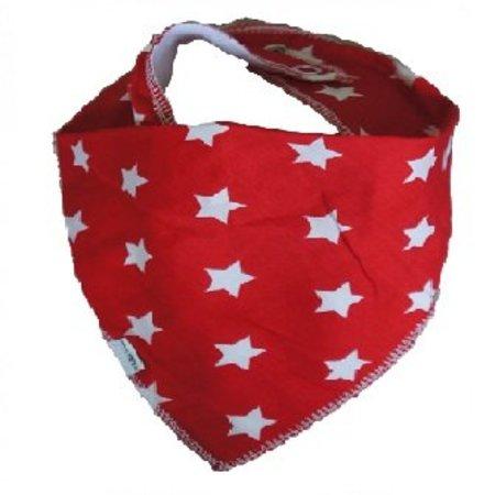 Kleine Lucas Bandana kwijlslabber rood met ster