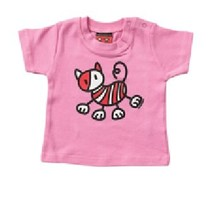 Roze baby T-Shirt Pip Poes