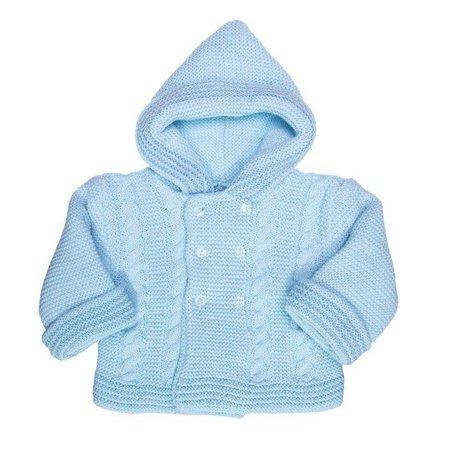 Petit Villain Gebreid vestje blauw 0-3 maanden