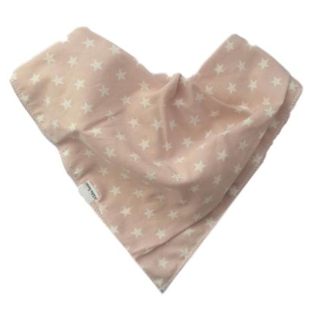 Kleine Lucas Bandana kwijlslabber licht roze met sterretjes