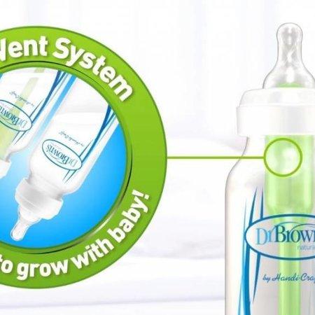 Dr.Browns Flesspeen fase 4 (9M+) papspeen of voor dikkere vloeistoffen Option Bottle