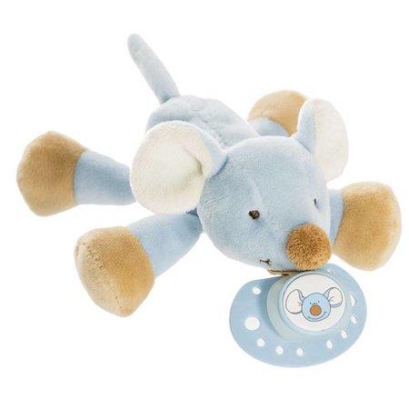 Teddykompaniet Diinglisar Speenknuffel Blauwe Muis