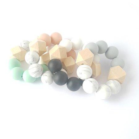 Chewies & more Hexa Chewie mini Marble / Mintgroen
