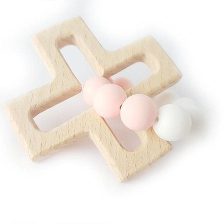 Chewies & more Play Cross Chewie Wit/ zacht roze