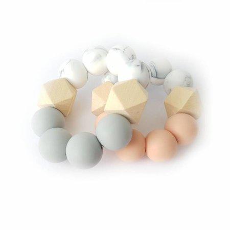 Chewies & more Hexa Chewie mini marble/ donkergrijs