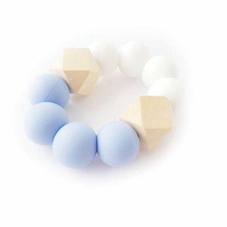 Chewies & more Hexa Chewie mini wit/ zachtblauw