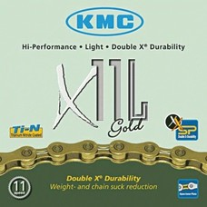 KMC Ketting X11 L - Ti-N Gold