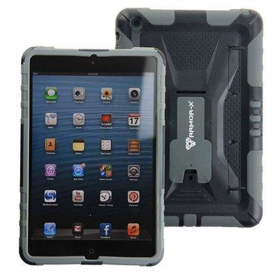 Armor-x case-x Hardcase hoes - iPad mini - Zwart/grijs