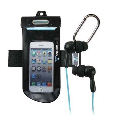 """Armor-x waterproof case - Smartphone 4,3"""" + hoofdtelefoon"""