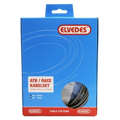 Elvedes Kabelset rem ATB/RACE  Zilver
