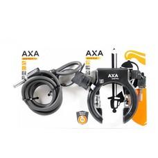 Axa ringslot Solid Plus + Newton Plug-in kabelslot 150 cm