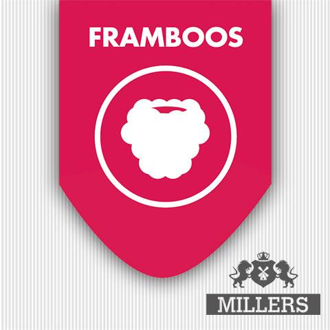 Sliverline Millers Juice liquid Framboos