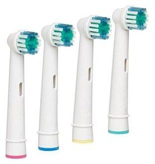 4 Opzetborstels voor elektrische tandenborstels van Oral-B ® van Braun ® (incl verzendkosten)