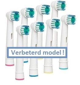 8 Opzetborstels voor Oral-B® elektrische tandenborstels