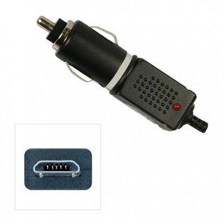 Autolader Micro USB Black 12v/24v