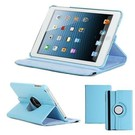 Apple iPad Air Hoes cover 360 graden draaibaar met Multi-stand kleur Baby Blauw