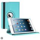 iPad Mini 3 Hoes Cover Multi-stand Case 360 graden draaibare Beschermhoes licht blauw